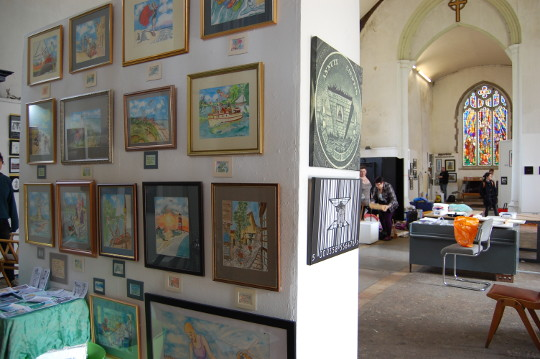 My wall at the exhibition at St Margaret's.