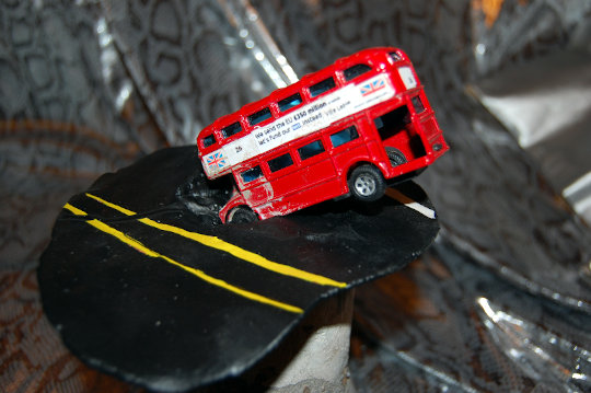 My Brexit bus sculpture. (c) 2019 by Eloise O'Hare.