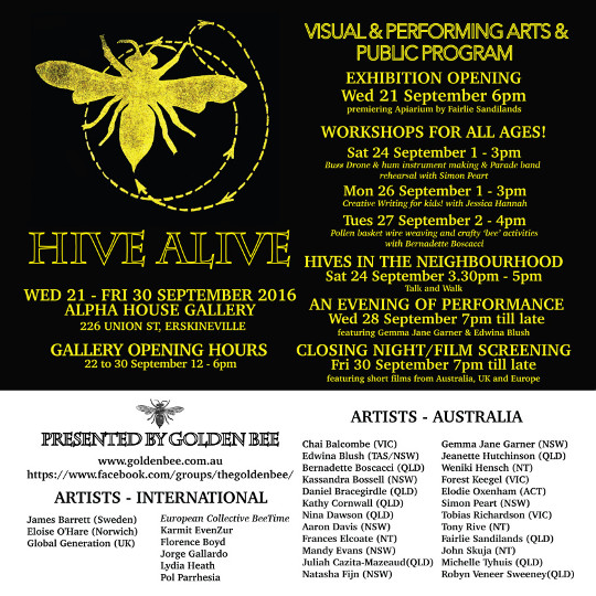 The poster for 'Hive Alive'.