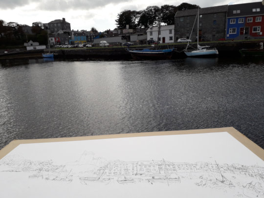 A view of the harbour of Kinvara, Ireland.