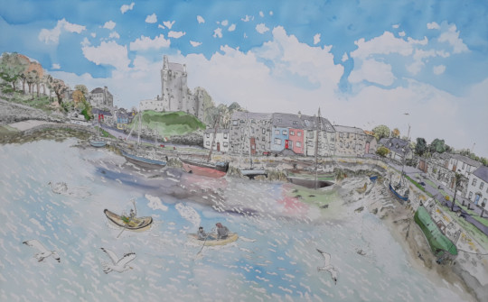 The finished picture of Kinvara. (c) Eloise O'Hare.