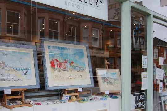 The exterior of The Gallery Norfolk in Cromer.