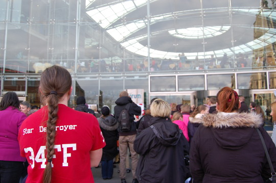 The Norwich Rising crowd from the back, facing The Forum.