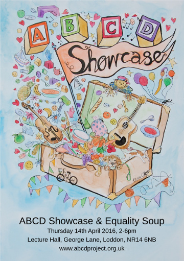 The poster for the ABCD Showcase event in Loddon.