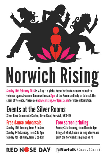 The poster for Norwich Rising 2016.