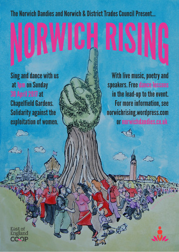 The poster for Norwich Rising, by Eloise O'Hare and Beep Mode.