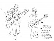 A live drawing of Jon Gibbons and John Duffy. (c) Eloise O'Hare.